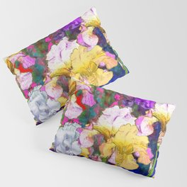Yellow & Purple Spring Red Iris Garden Pillow Sham