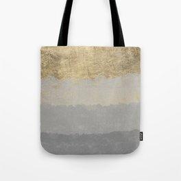 Geometrical ombre glacier gray gold watercolor Tote Bag