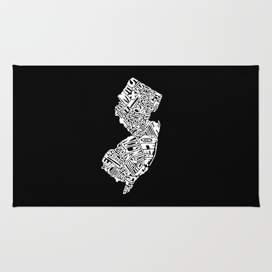 Typographic New Jersey Rug