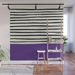Purple Grape x Stripes Wall Mural
