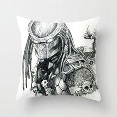 Predator. Throw Pillow