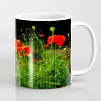 poppies Mugs featuring Poppies by Vitta