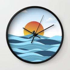 Surfing 1 Wall Clock