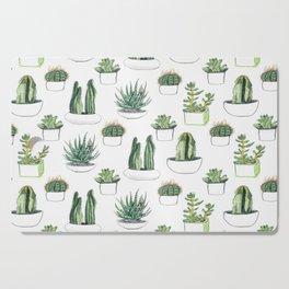 Watercolour Cacti & Succulents Cutting Board