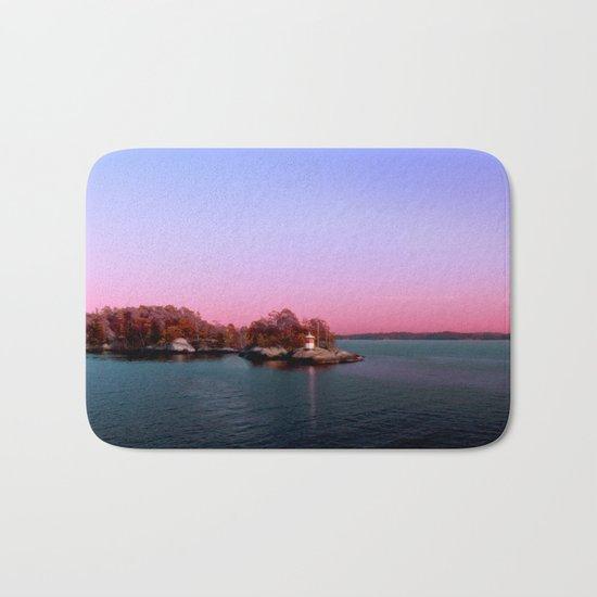 Sunset over the Island Bath Mat
