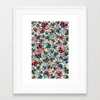 skulls Framed Art Prints featuring Skulls by Devin McGrath