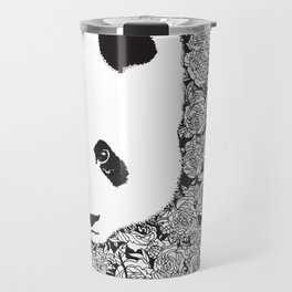 Panda Bear With Roses Tattoo Pattern Travel Mug