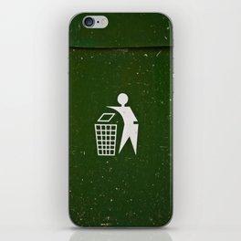 Trash - Put here please! iPhone Skin