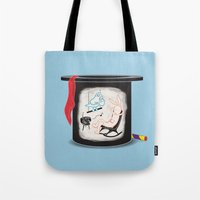 holiday Tote Bags featuring Holiday by Chaopi Lin