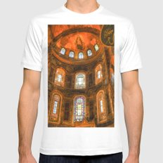 Hagia Sophia Istanbul Mens Fitted Tee MEDIUM White