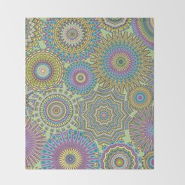 Kaleidoscopic-Jardin colorway Throw Blanket