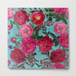 Vintage & Shabby Chic - Summer Tropical Flower Garden I Metal Print