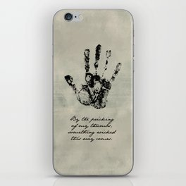 Shakespeare - Macbeth - Something Wicked This Way Comes iPhone Skin