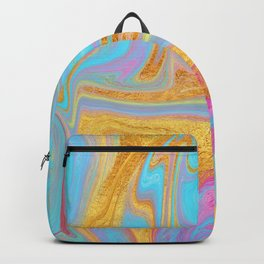 Candy Addict Colorful Marble Abstract Backpack