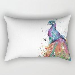 Majestic Peacock Rectangular Pillow