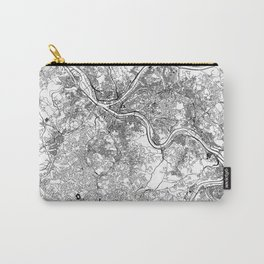 Pittsburgh White Map Carry-All Pouch