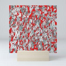 The letter matrix RED Mini Art Print