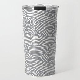 Waves in Charcoal Travel Mug
