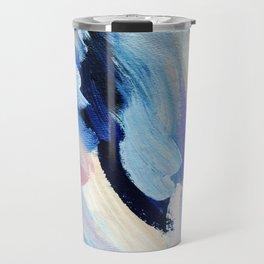 Bibbity Bobbity Blue (Abstract Painting) Travel Mug