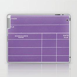 Library Card BSS 28 Negative Purple Laptop & iPad Skin