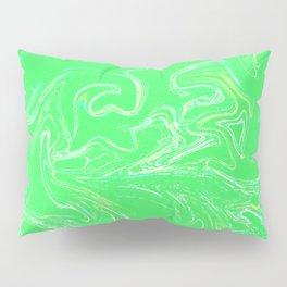 Neon green abstract Pillow Sham