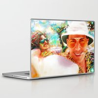 fear and loathing Laptop & iPad Skins featuring Fear and Loathing in Las Vegas by ururuty