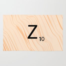 Scrabble Letter Z - Scrabble Art and Apparel Rug