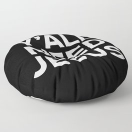 Y'all Need Jesus Funny Quote Floor Pillow