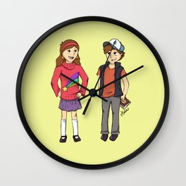 The Mystery Twins Wall Clock