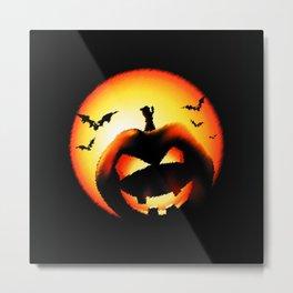 Smile Of Scary Pumpkin Metal Print