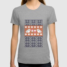 Fair Isle Christmas Guinea pig Pattern T-shirt