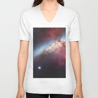 galaxy V-neck T-shirts featuring Galaxy by fly fly away