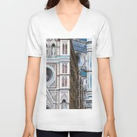 florence V-neck T-shirts featuring Florence  by Chernyshova Daryna