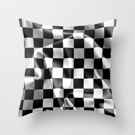 Chequered Flag Throw Pillow