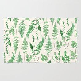 Ferns on Cream I - Botanical Print Rug