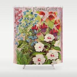 Vintage Flowers Advertisement Collage Shower Curtain