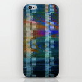 Analogue Glitch Rainbow Blocks iPhone Skin