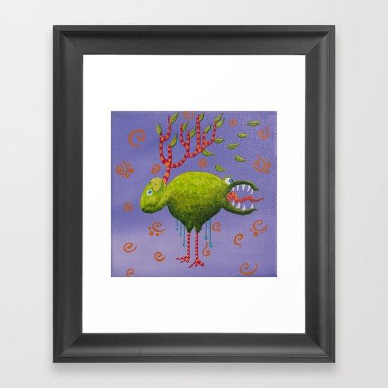 the deer sheep Framed Art Print