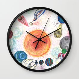 the universe in dots (pointillism) Wall Clock