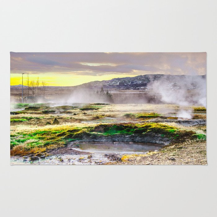 Geysers valley in Iceland Rug