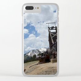 At the Longfellow Mine, elevation 11,080 feet, No. 1 of 13 Clear iPhone Case