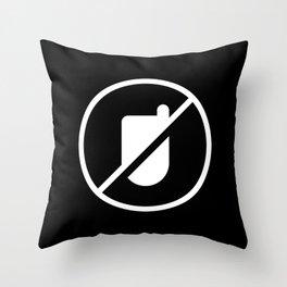 No Dumbphones Allowed! Throw Pillow