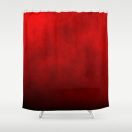 Red Devil Endless Hell Fire Fog Shower Curtain