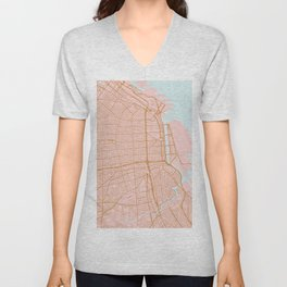 Buenos Aires map, Argentina Unisex V-Neck