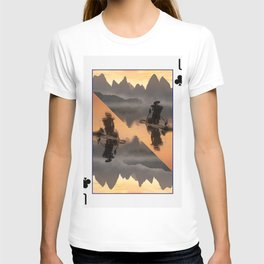Li River Board Game Card Trunk Boat Navigator T-shirt