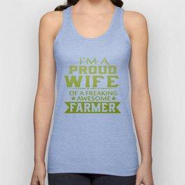 I'M A PROUD FARMER'S WIFE Unisex Tank Top