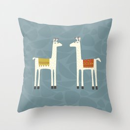 Everyone lloves a llama Throw Pillow