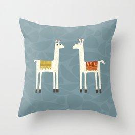 Everyone lloves a llama Throw Pillow
