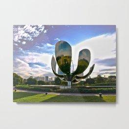 Floralis Genérica  Metal Print