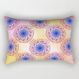 Teardrop Concentric Circle Pattern (Pink,Yellow) Rectangular Pillow